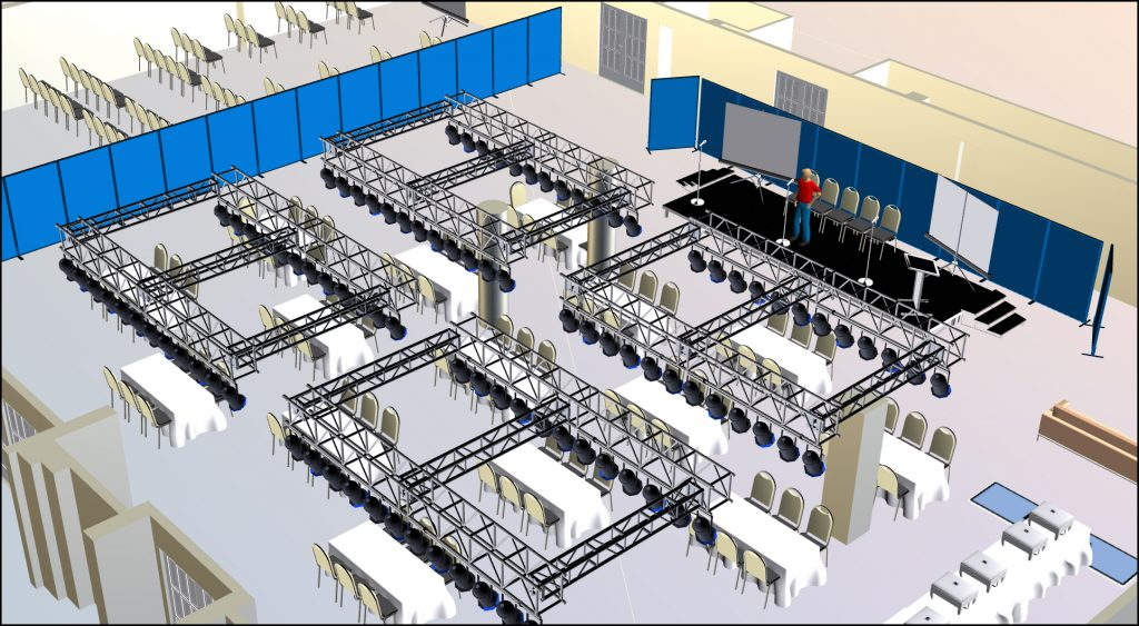 Lighting and AV Setup using Visio3D created by CADplanners
