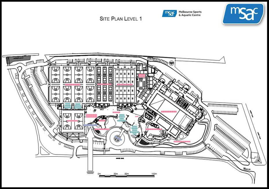 Melbourne Sports & Aquatic Centre Site Plan